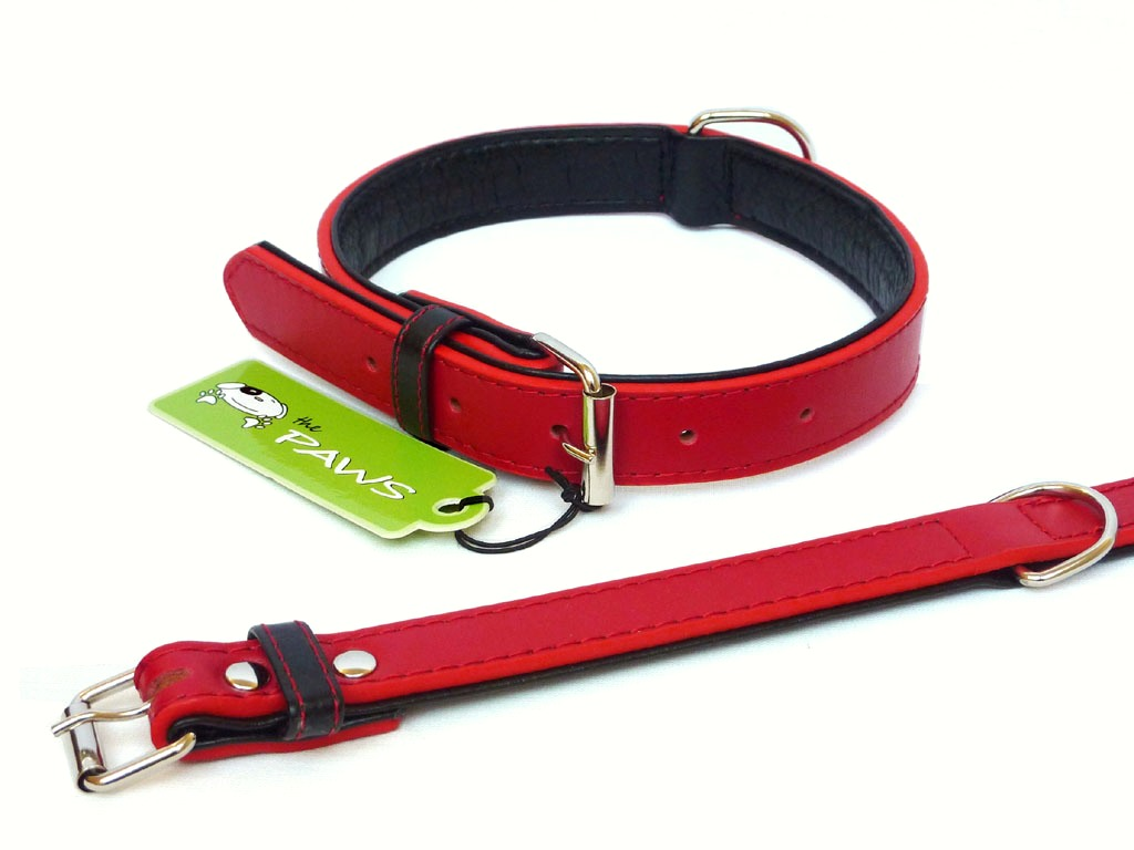 Fusion Leather Collar Lead - Red