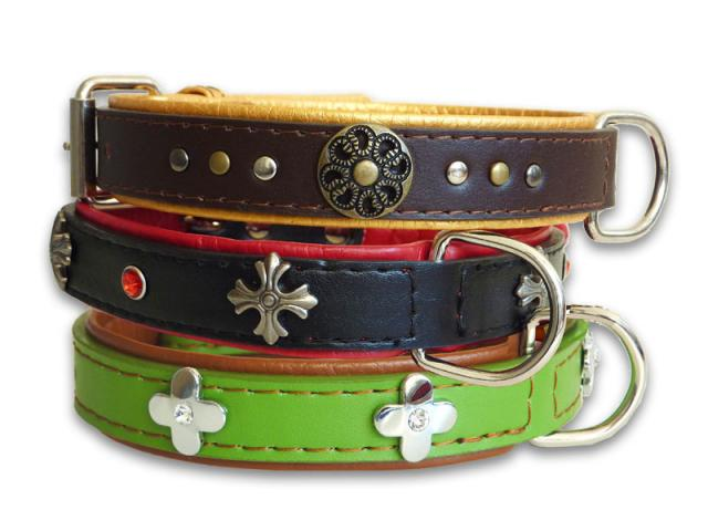 Ornament Leather Collar