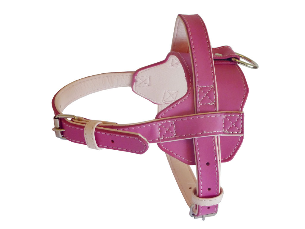 Fusion Leather Harness - Pink