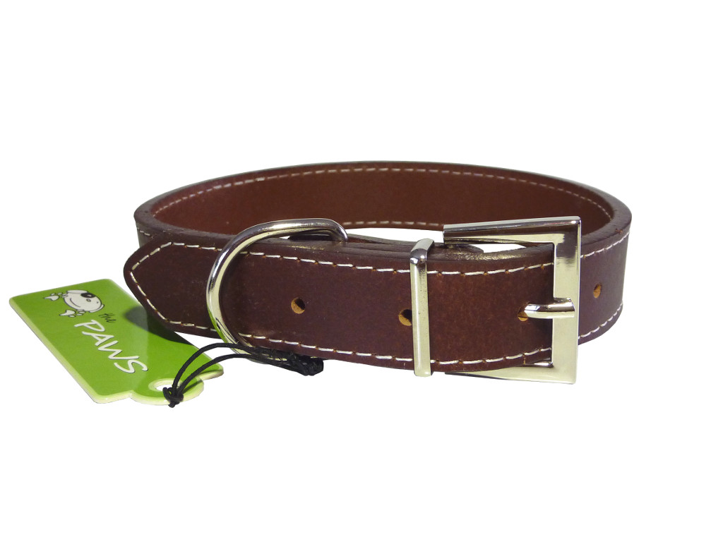 Top Grain Leather Collar - Brown